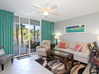 Photo for Sandpiper L05 Updated 2 BR Lanai Level Condo with Private Parking Garage!