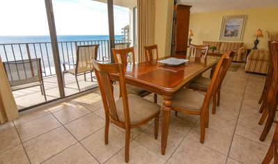 Dining Room Table w/Beach View