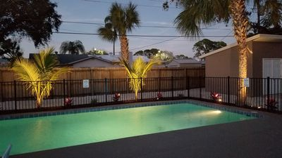 Photo for 2 Cottages rented together on same property, w/ heated Pool! Close to beaches!