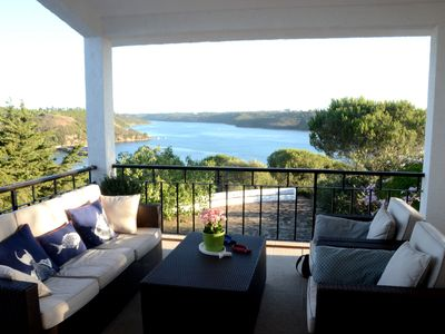 Photo for Calm Architect house breathtaking views of the Rio Mira and the sea, WiFi