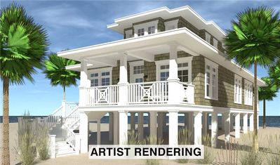 Photo for Modern Soundside Hatteras Bungalow-Elevator, Pool, Kiddie Pool, Tiki Bar, HotTub