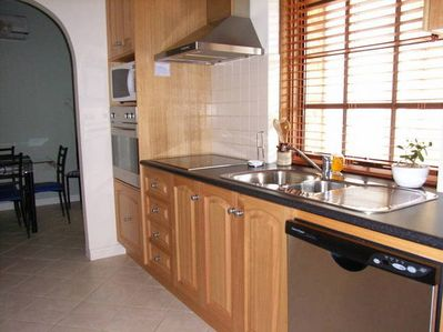 Gourmet kitchen with all facilities. Dishwasher, microwave.