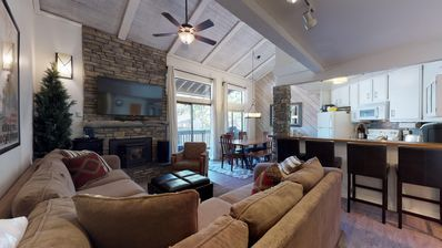 Photo for Cozy mountain vibe townhome close to restaurants, shuttle and shops!