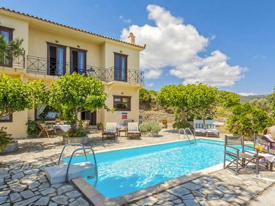 Photo for Villa Raches: Large Private Pool, Sea Views, A/C, WiFi