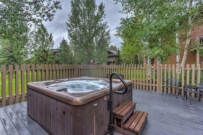 Soothe your aching muscles in The Villas at Walton Creek community hot tubs.