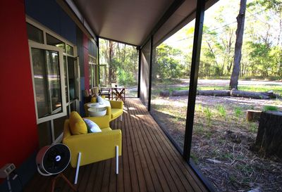 Place to relax on the enclosed deck