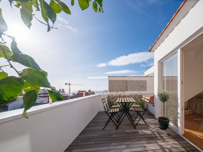 Photo for Unique Penthouse with Terrace & View in * Heart of Lisbon *, behind Lapa Palace