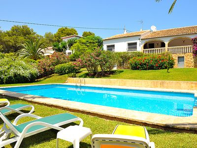Photo for 4 bedroom Villa, sleeps 8 in Javea with Pool and WiFi