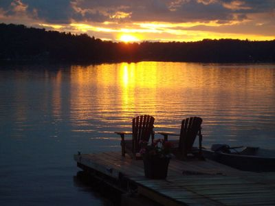 Photo for Rustic, Romantic, Cozy, Comfy, Adirondack Cabin!  BEST Sunsets!