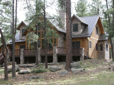 Photo for GORGEOUS CABIN IN THE PINES