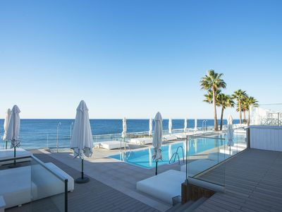 Photo for Riviera Paradise! 7 min walking from beach, Sea view with garden terrace and BBq