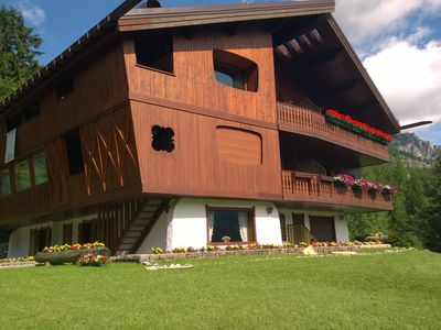 Photo for SUGGESTIVE VIEW! BRIGHT LUXURY CHALET 5 MIN WALK FROM CENTER AND SKI IMPLANTS