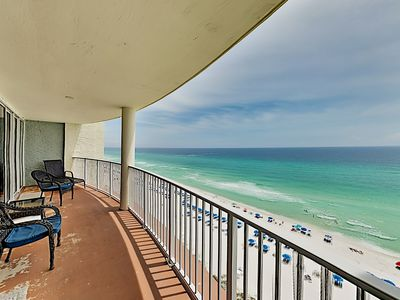 Photo for Stylish Gulf-Front Getaway w/ 3 Pools, 3 Hot Tubs, Epic Views - Steps to Sand
