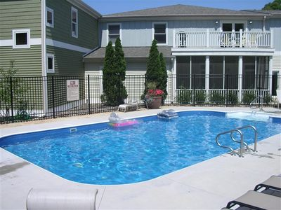 Photo for UNION PIER CONDO WITH ASSOCIATION HEATED POOL & WALKING TO LAKE!