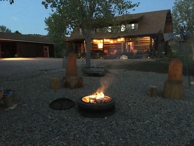 September Evening by the Fire Pit