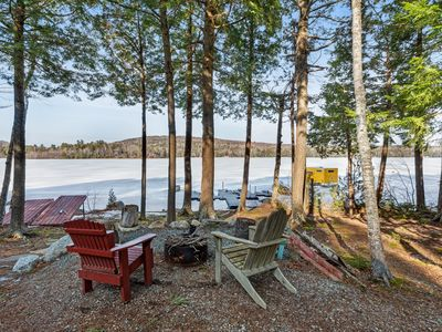 Photo for Lakefront cabin w/private dock, firepit, fireplace & gorgeous views - 2 dogs OK!