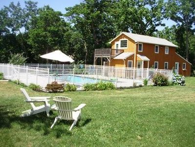 pool and the cottage