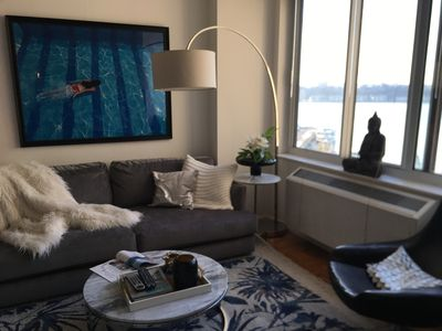 Photo for Jacob Javitz/Theater District Stunning designer NYC condo with water view