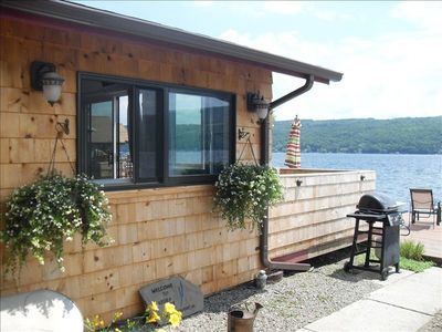 Photo for Keuka Lake Bungalow on Waters Edge - 1  Step & U R in the Lake