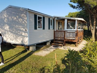 Photo for Spacious mobile home 3 bedrooms / 6-8 pers camping 4 * lake of dreams