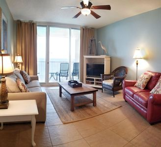 A1108 is very spacious! The living, room adjoins the balcony.