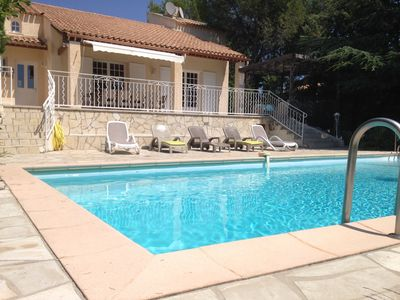 Photo for Villa dominant view in a quiet pool