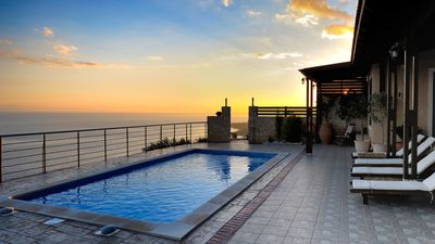 Photo for Maistros villa  on a hillside of South Crete with a view of Libyan sea.
