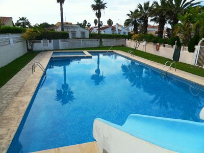 Photo for Large private plot, garden, pool, Wifi, Sat-TV, parking, ideal for families