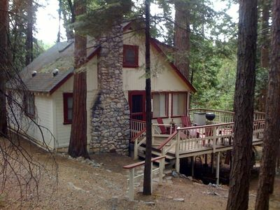 This is an original Twain Harte cabin constructed of Redwood Heartwood in 1937