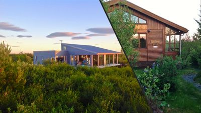 Luxury House with a Cozy Guesthouse + Hot Tub close to Snæfellsnes National Park