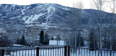 Excellent view of the slopes from the deck