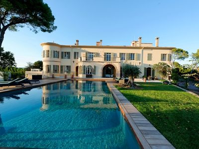 Photo for Stunning chateau near Cannes with sea and hillside views and luxury amenities