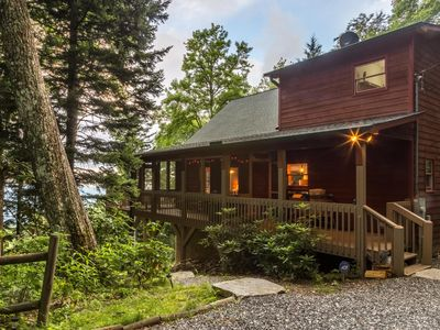 Photo for Light Filled Cabin at 5300 ft with Stunning Views, Wi-Fi, Hot Tub, & Fire Pit