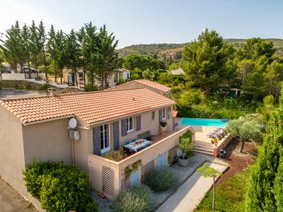 Photo for Serene Villa in Caunes-Minervois with Private Pool