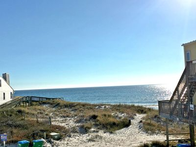 Photo for Amazing views, 60 steps from sand, Everything brand new, covered deck.