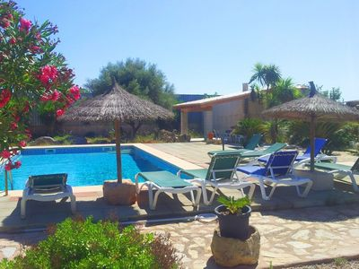 Photo for Can Bril,  Internet Free Wi-fi, Pool, Garden, 15 Minutes From the beach Es Trenc