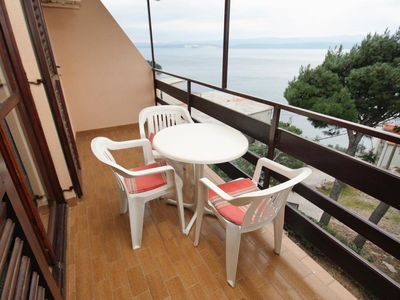 Photo for One bedroom apartment with balcony and sea view Nemira, Omiš (A-5884-c)