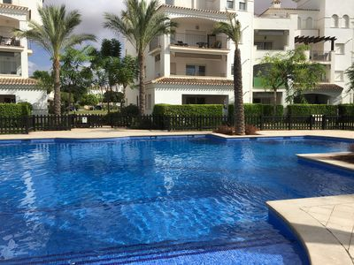 Very large pool.  Great place to meet friends on your vacation.