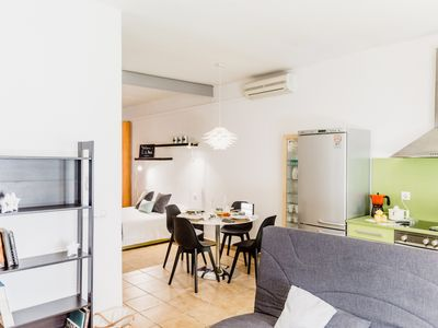 Photo for Beautiful loft on the beach with parking at 45min BCN