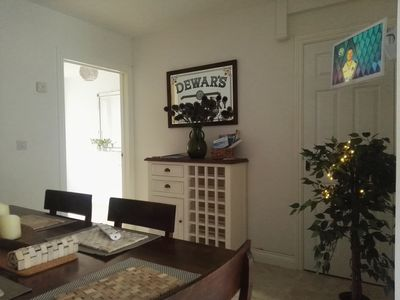Dining area with smart TV