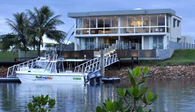 Photo for Waterfront Villa with private pool and boat jetty