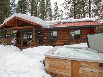 Photo for Three-cabin waterfront compound w/ river views, hot tub, & BBQ station - dogs OK