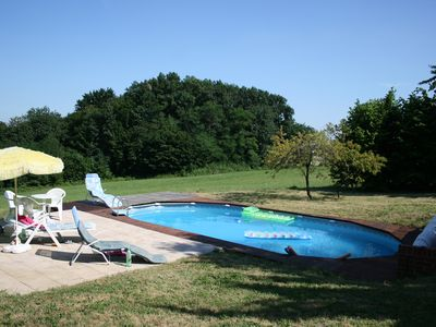 Photo for Romantic modernized traditional farmhouse 4 bed and pool in wine growing region