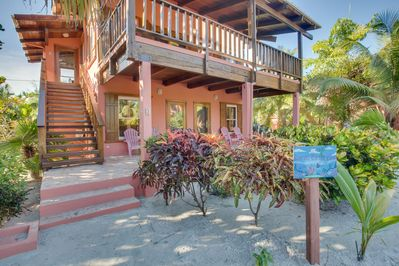 Upper and lower levels of Coral Caye Villa