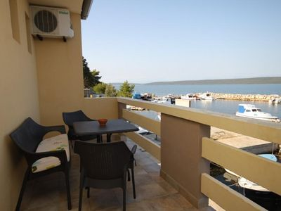 Photo for One bedroom apartment with terrace and sea view Neviđane (Pašman)