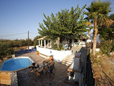 Photo for Traditional greek house with pool, spectacular views