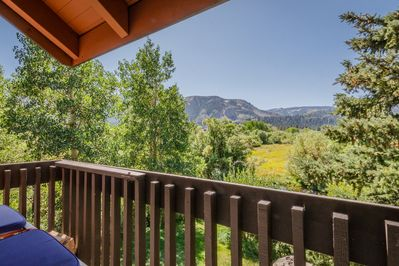View of Snowcreek Meadow Preserve from upstairs balcony.