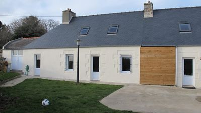 Photo for Renovated Breton house, facing south with garden and terrace LANNION