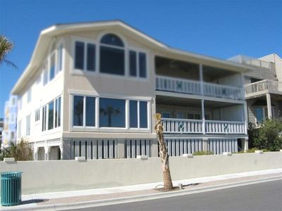 This spacious duplex is oceanfront on the first level and features panoramic vie