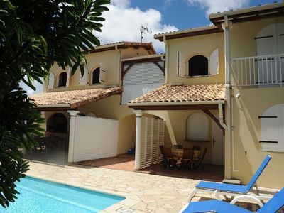 Photo for Apartment with terrace, swimming pool in attractive residence near the beaches